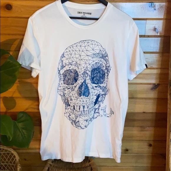 Abstract skull true religion t-shirt
